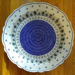 Boleslawiec Polish Pottery Holiday Platter Pines